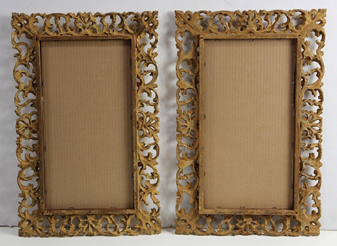 Pair of Continental giltwood carved mirrors, each - 2