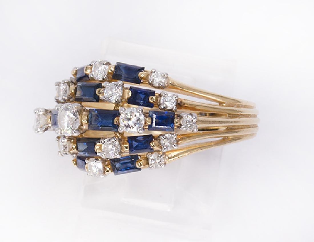 Oscar Heyman Sapphire, diamond, platinum and 18k yellow - 2