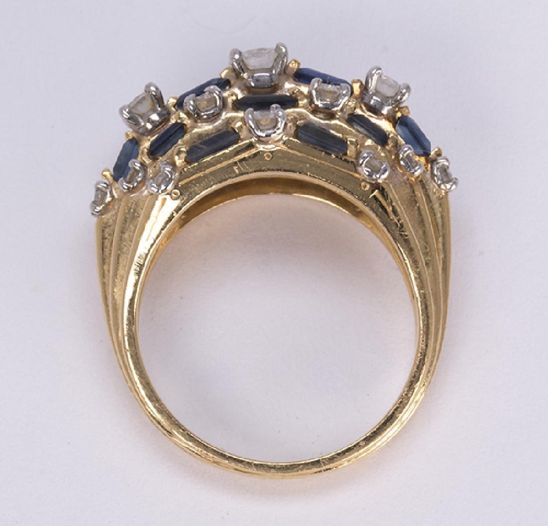 Oscar Heyman Sapphire, diamond, platinum and 18k yellow - 3