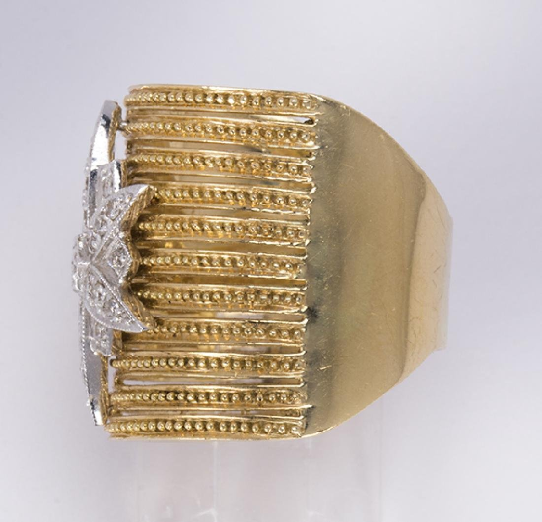 Diamond and 18k gold ring - 2