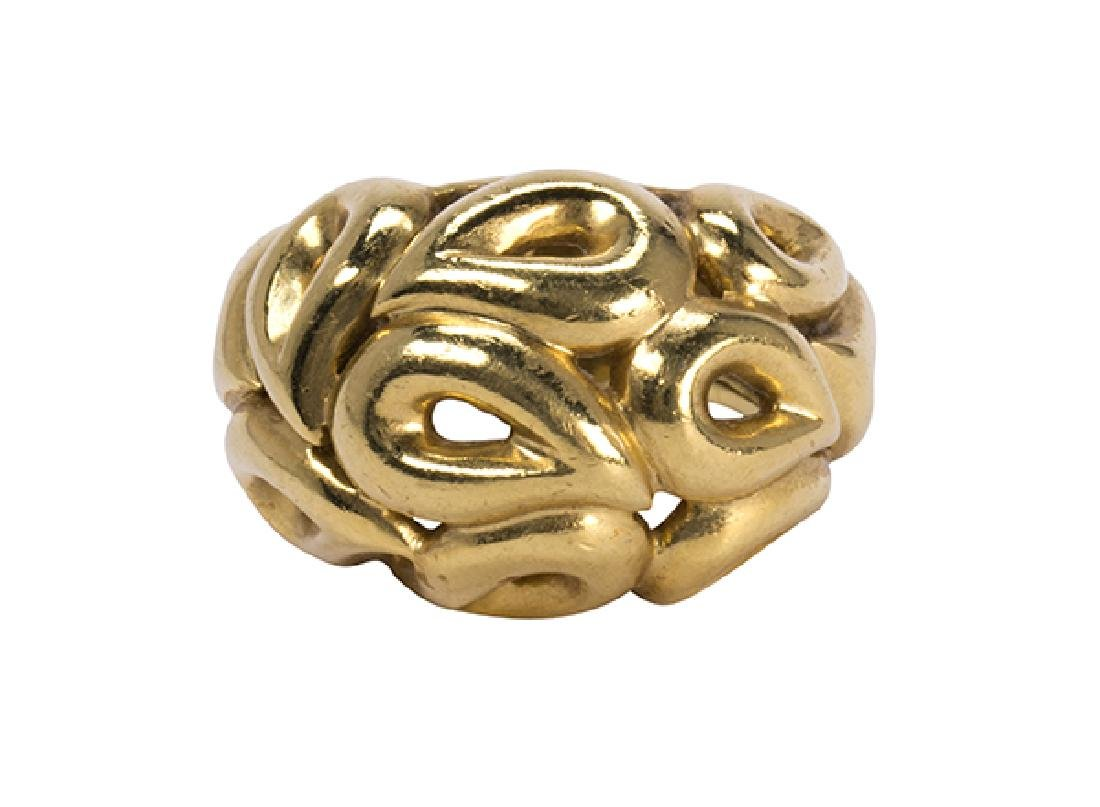 Jean Vitau 18k yellow gold ring - 2