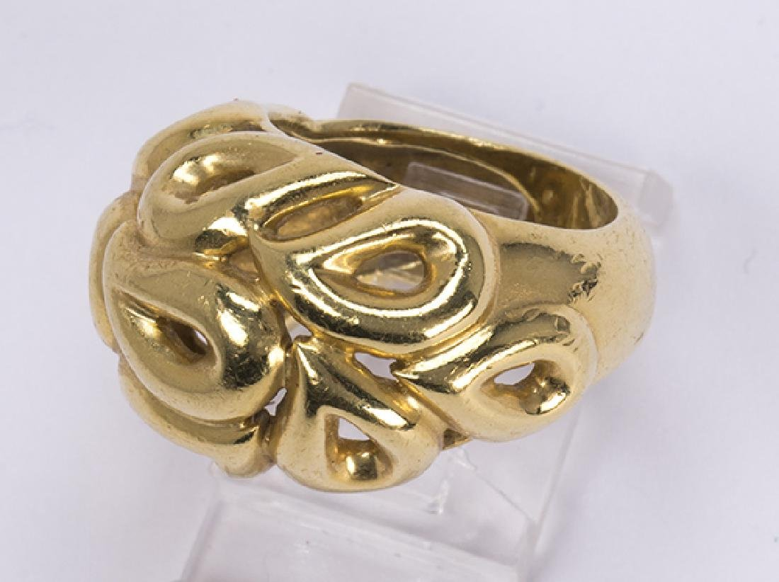 Jean Vitau 18k yellow gold ring - 3