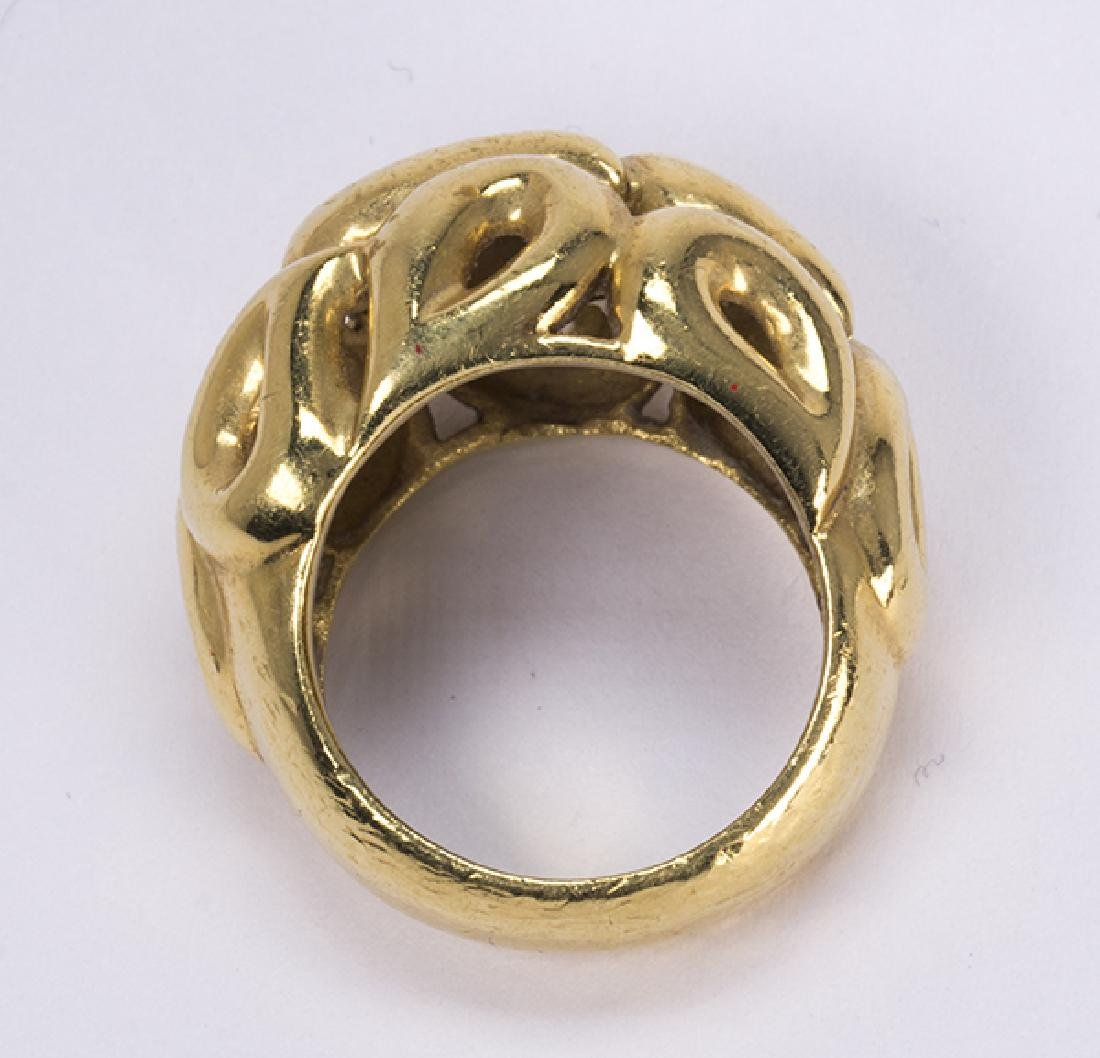 Jean Vitau 18k yellow gold ring - 4