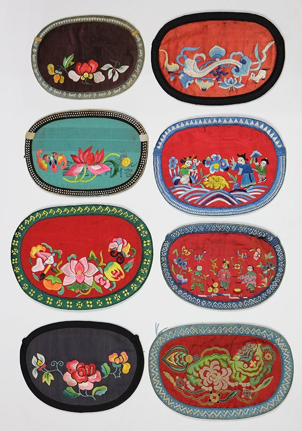 Chinese Embroidered Silk Wallets