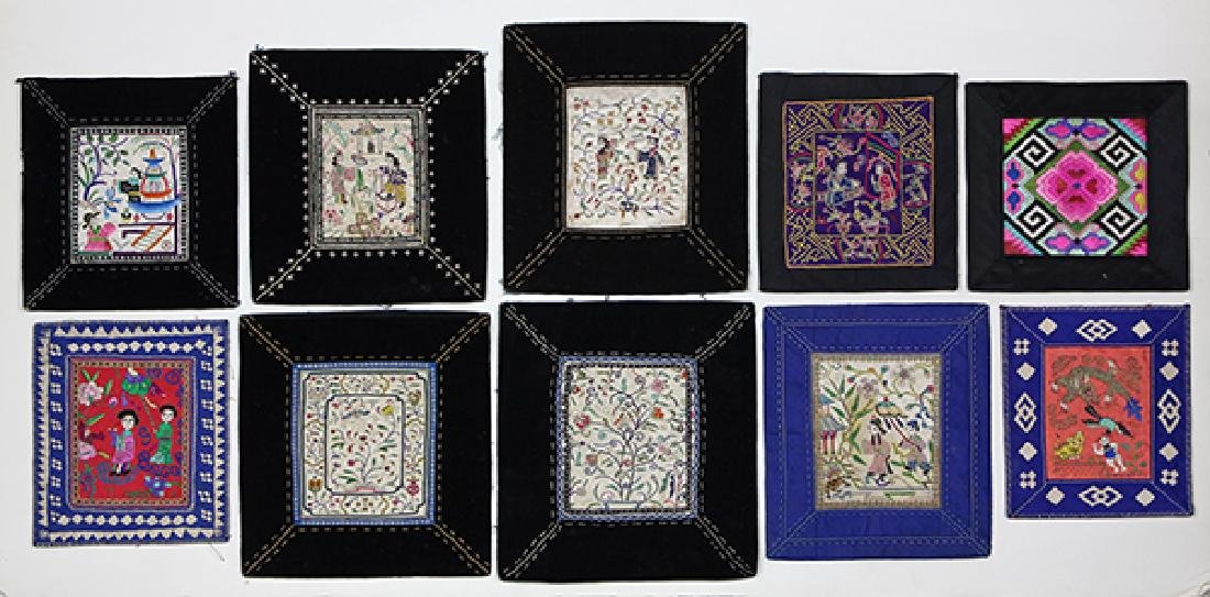 Chinese Embroidered Small Panels