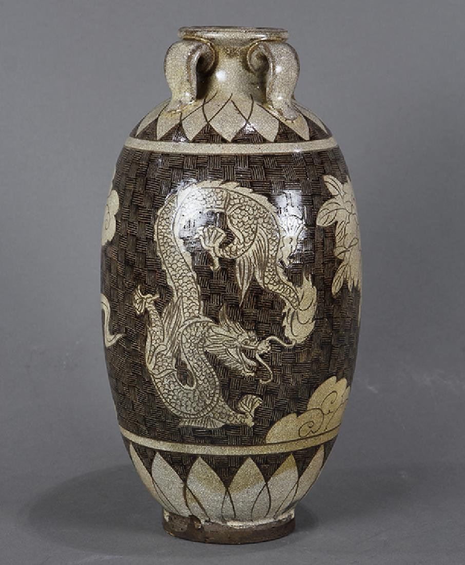 Chinese Cizhou Type Jar, Dragon/Phoenix
