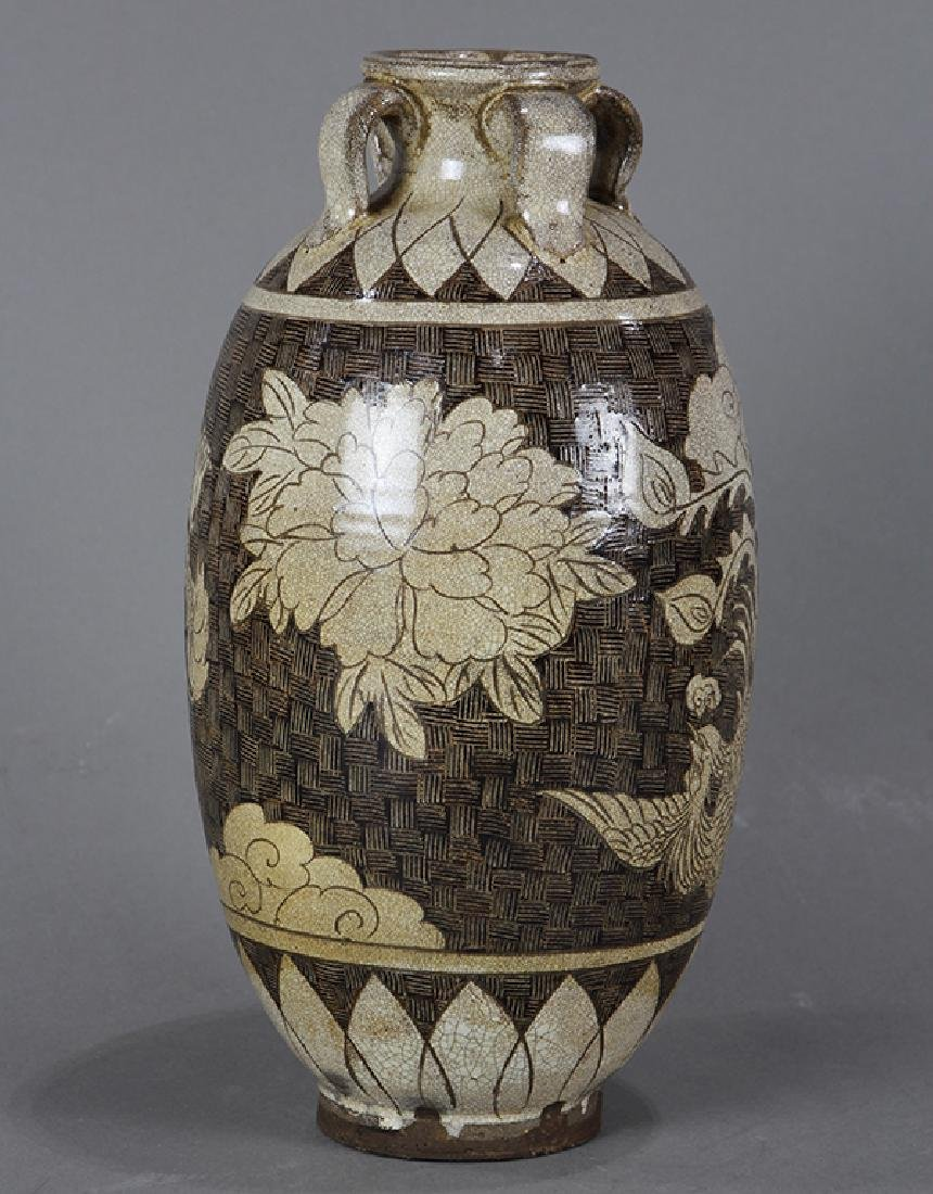 Chinese Cizhou Type Jar, Dragon/Phoenix - 2