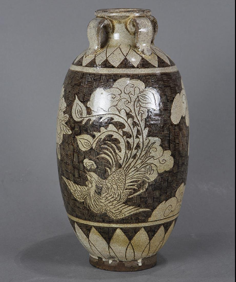 Chinese Cizhou Type Jar, Dragon/Phoenix - 3