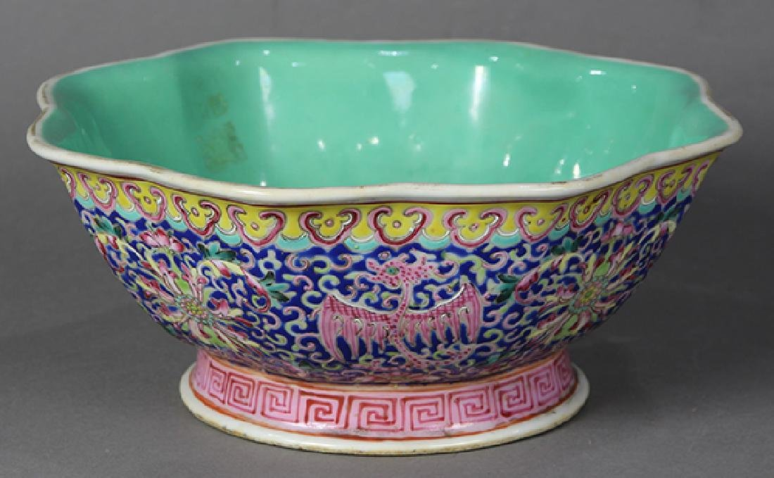 Chinese Footed Bowl, Phoenix-Dragons