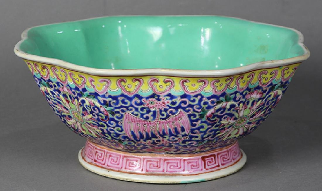 Chinese Footed Bowl, Phoenix-Dragons - 2