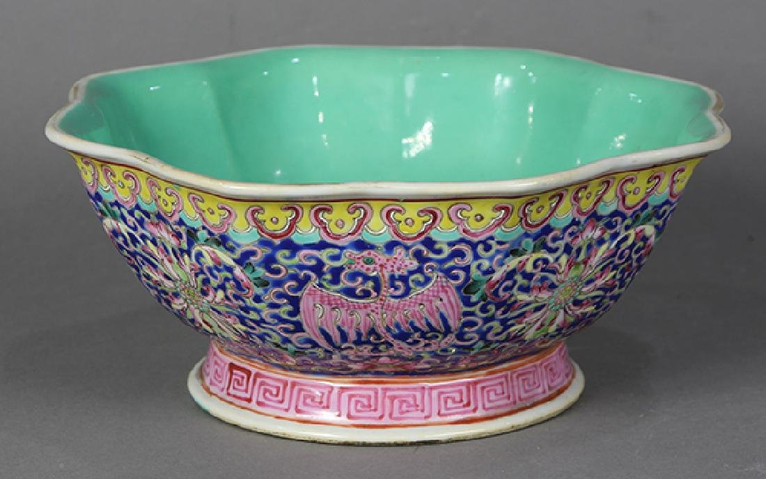 Chinese Footed Bowl, Phoenix-Dragons - 3