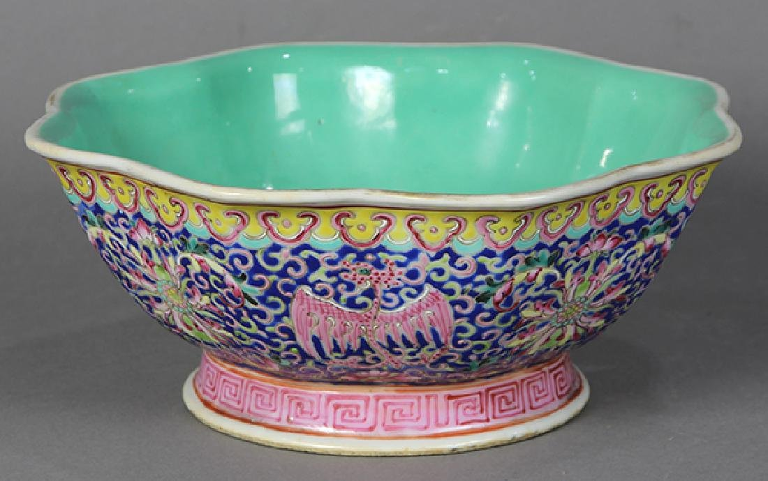 Chinese Footed Bowl, Phoenix-Dragons - 4