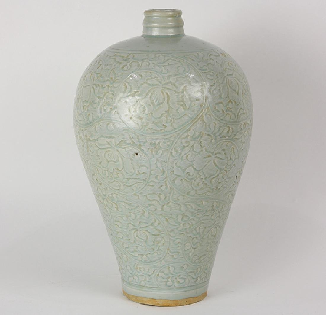 Chinese Yingqing Glaze Meiping Vase