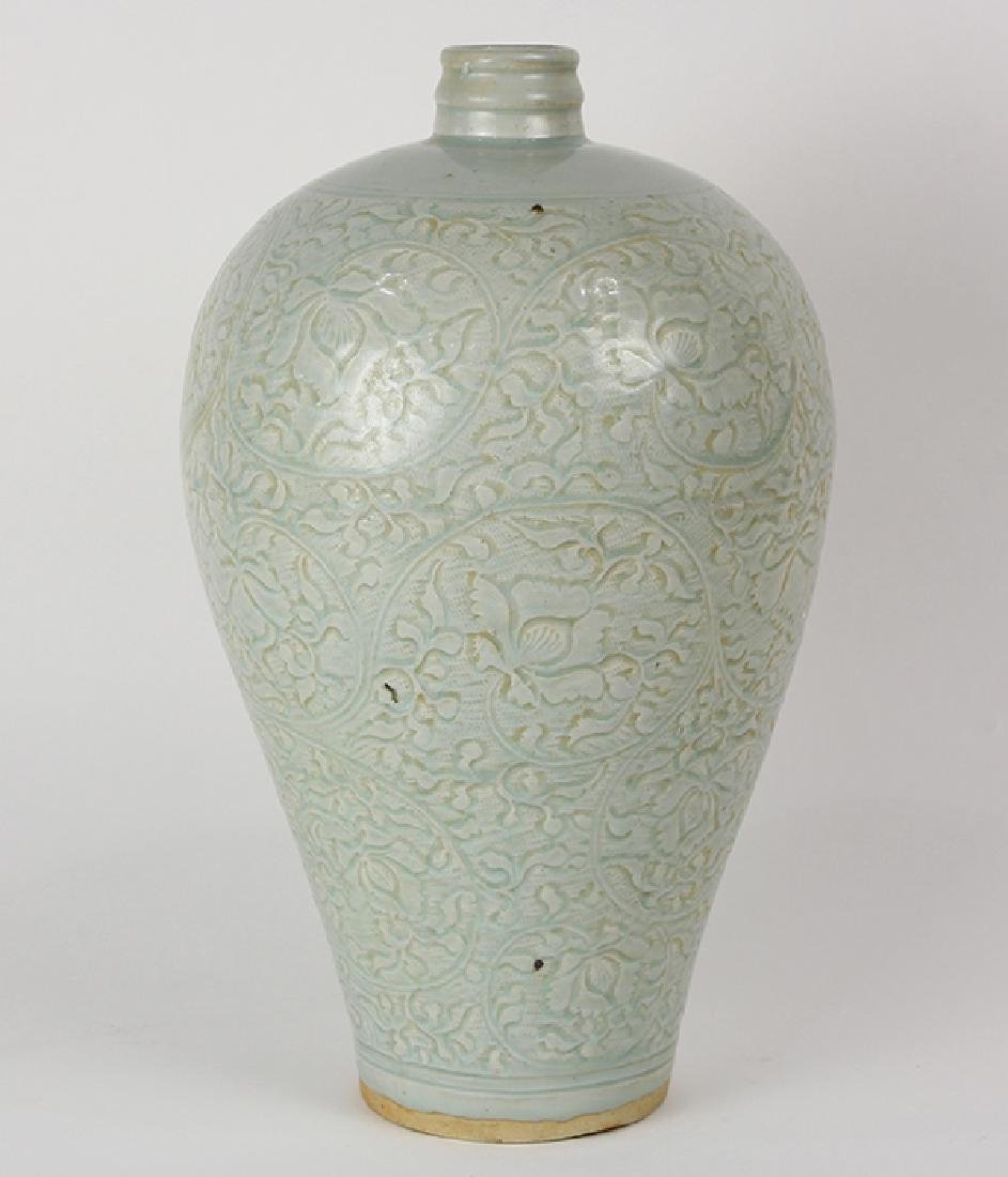 Chinese Yingqing Glaze Meiping Vase - 2