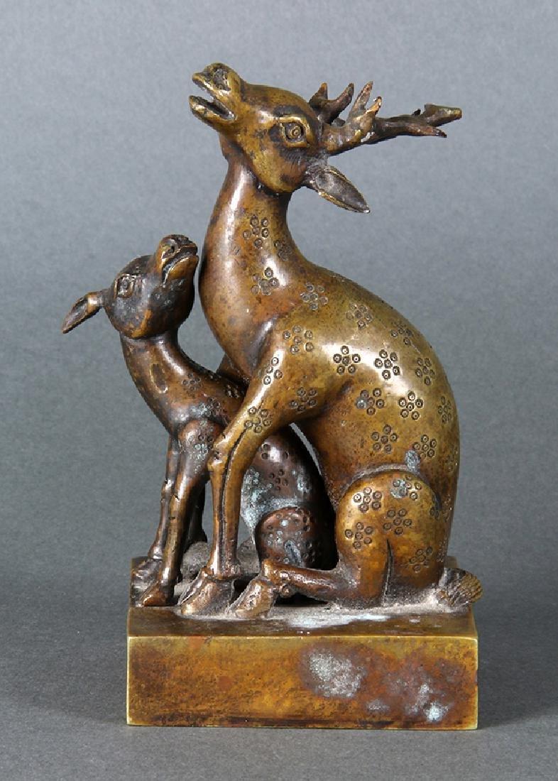 Chinese Bronze Deer Seals