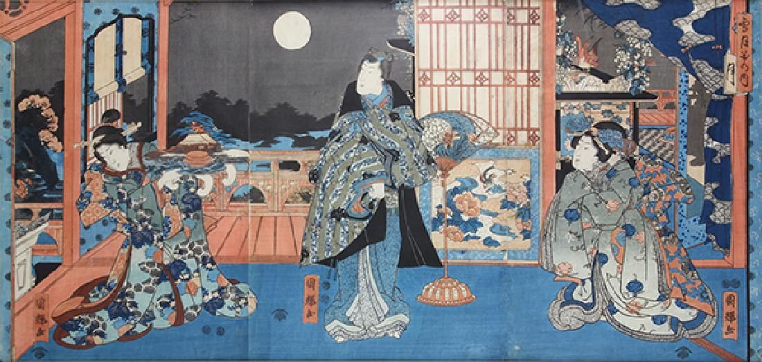 Japanese Woodblock Prints, Kuniteru 19c