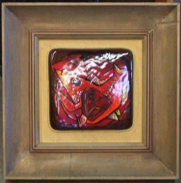 4003: Enamel art plaque, Reid American