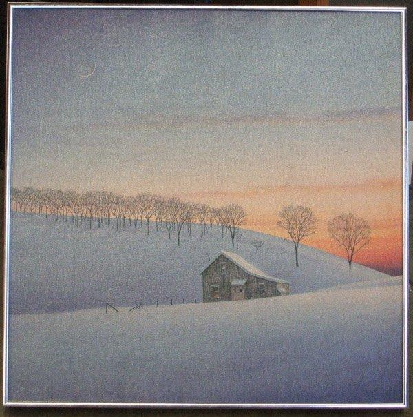 4004: Painting Snow Landscape American