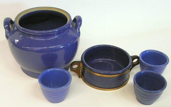 4009: Lot of Bauer ringware blue glaze