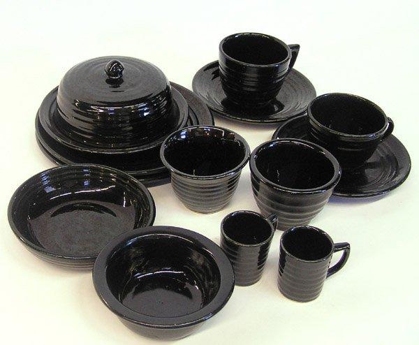 4010: Lot of Bauer ringware black glaze