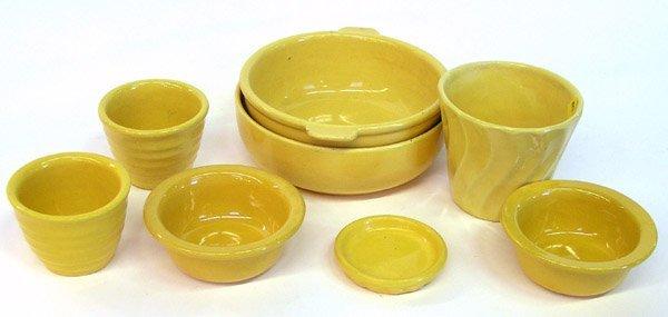 4012: Lot of Bauer ringware Yellow