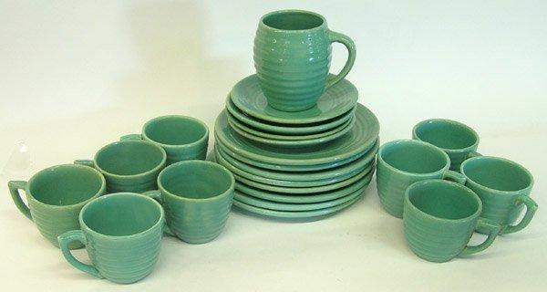 4013: Lot of Bauer ringware Green