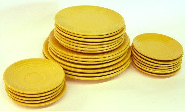 4014: Lot of Bauer ringware Yellow