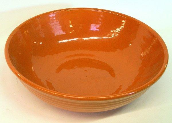 4015: Bauer ringware orange mixing bowl