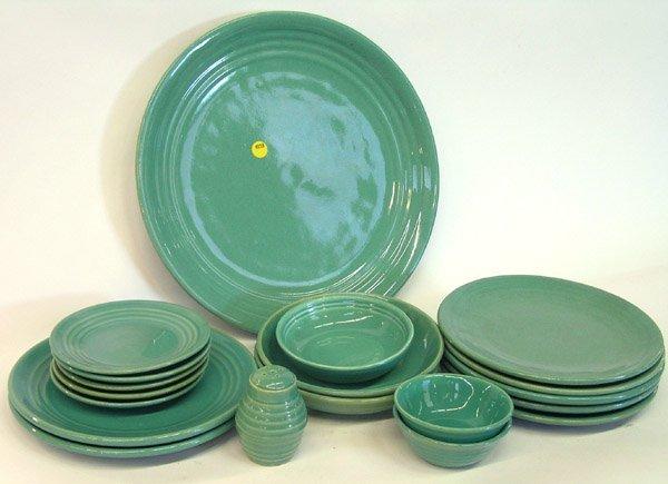4018: Lot of Bauer ringware Jade Green