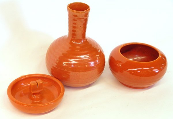 4019: Lot of Bauer ringware Orange