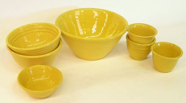 4020: Lot of Bauer ringware Yellow