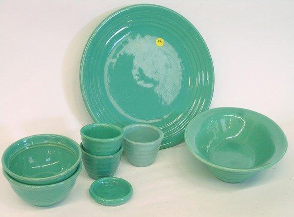 4022: Lot of Bauer ringware Jade green