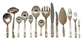 """(lot of 98) Georg Jensen sterling silver """"Acorn"""""""