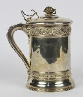 Victorian sterling silver stein, by Dominick & Haff,