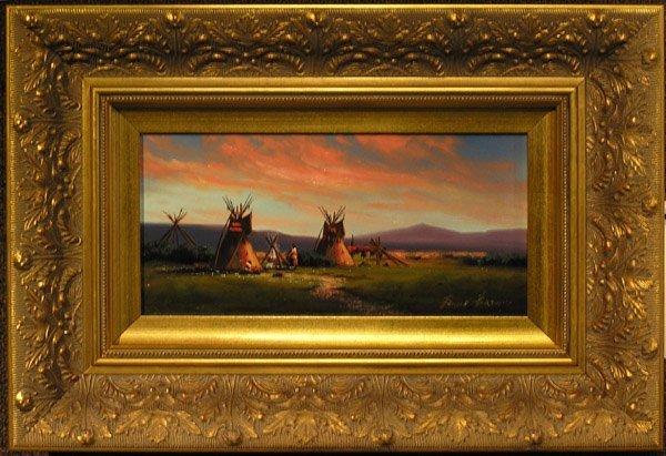 6008: Painting Heine Hartwig American Indian