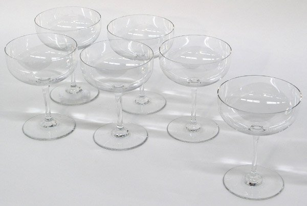 6022: Baccarat crystal champagnes
