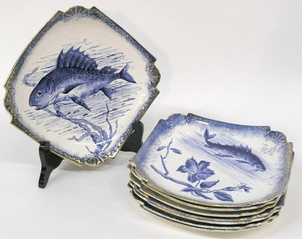 6023: Bonn porcelain fish plates