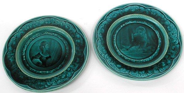 6036: French Majolica plates