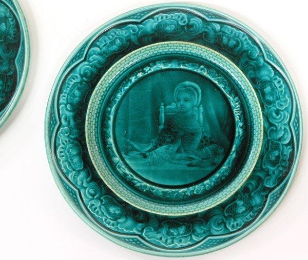 6036: French Majolica plates - 2