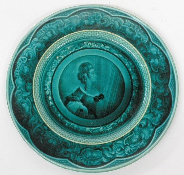 6036: French Majolica plates - 3