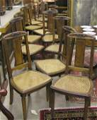 6251: French Art Deco Carved Sidechairs