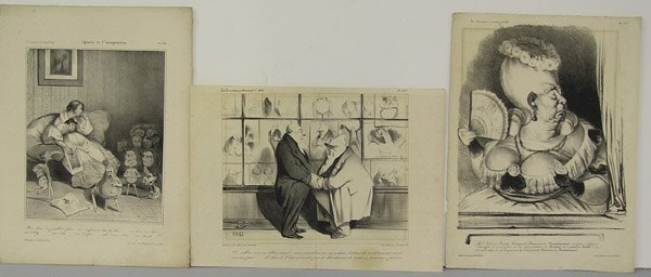 6409: Lithographs, Honore Daumier, French