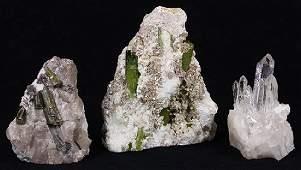 (Lot of 3) Crystal geode specimens