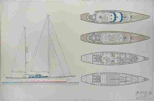 Nautical Prints, Mariette and Parini Navi