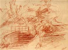 Original Drawing By German Expressionist
