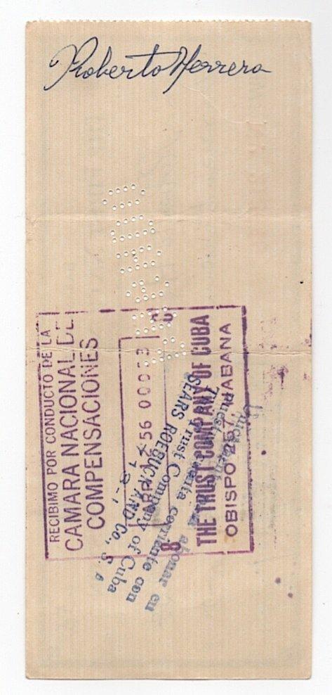 Hemingway Signed Bank Check Cuba 1956 - 2