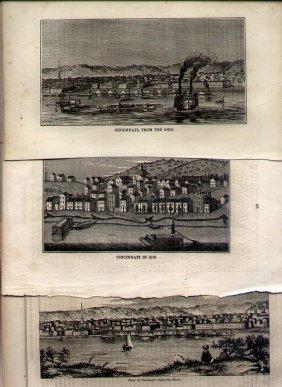 3 Antique Views Of Cincinnati, Ohio