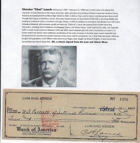 "Chet"" Lauck (1902-1980) American Comic Actor"