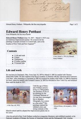 Edward H. Potthast (1857-1927) American Impressionist
