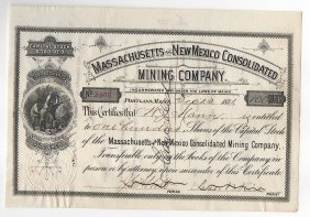 1881massachusetts And New Mexico Consolidated Mining Co